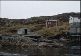 Stages and cabins in Wadham's Harbour, Little Fogo Island
