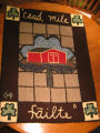 Tilting Come Home Year rug: Lillian Dwyer's hooked rugs, Tilting