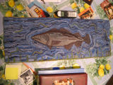 Cod fish hooked with nylon stockings: Lillian Dwyer's hooked rugs, Tilting
