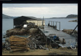 Martin Hart's stage with hand flakes and lobster pots, Deep Bay