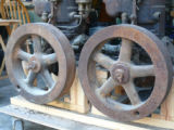 Flywheels on Mianus engines owned by Charley Abbott
