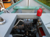 Atlantic engine in a dory