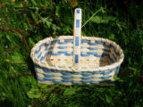 Woven single handle basket