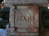 Manufacturing Stamp on 8.5 Acadia engine at the Wooden Boat Museum of Newfoundland and Labrador