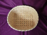 Rectangular white ash basket, Main Brook