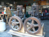 Two 5 hp Mianus engines, note the engine on the left hand side has an oil cup