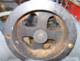 Flywheel on an Atlantic engine