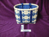 Blue woven basket, Main Brook