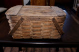 Mill basket with woven bottom, Grand Falls-Windsor