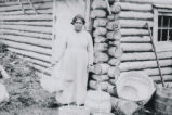 Maggie Johns, Mik'maq basket maker, Grand Falls Windsor