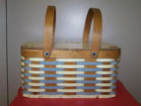 Woven vinyl siding lunch basket, Pleasantview