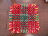 A pillow top woven by Dale Jarvis