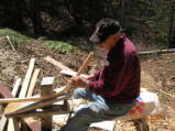 Casey, J. Jack Casey shaping timber (1)