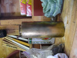 Brass tin for mixing gasoline and oil