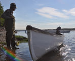 Gillingam, Basil. Basil and his Gander Bay Boat, George's Point, Gander Bay.