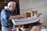 Feltham, S. Sam Feltham with a model boat, Glovertown