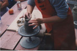 Chaytor, Katrina. Craft Council of NL Clay Studio hand-building demonstration, Duckworth Street,...