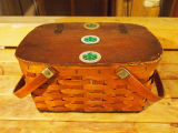 Downey, Junior.  Lunch basket belonging to Grand Falls - Windsor Mill employee, Junior Downey. ...