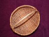 Small woven basket with diamond wrap ears, St. John's