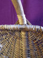Large woven basket with diamond wrap ears, Cobb's Arm
