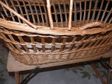 Woven baby bassinet on stand, St. John's