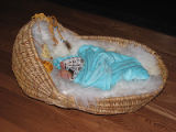 Woven baby cradle, St. George's
