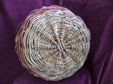 Wrapped handle Mi'kmaq witherod basket, Nova Scotia