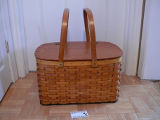 Large picnic basket made by Angus Gunn, Grand Falls-Windsor