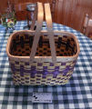 A purple Mi'kmaq ash basket, Stephenville