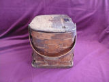 Mill lunch basket with name plate, Corner Brook.