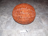 Round spruce root basket made by Anthony White, Flat Bay