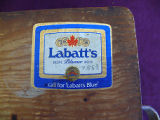 Hillier  plywood mill lunch basket (dark), Grand Falls-Windsor