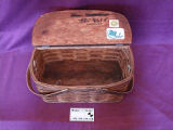 Woven mill lunch basket belonging to Terry Penney, Corner Brook