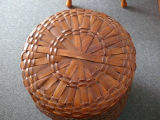 Large woven basket, Curling