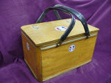 Mill lunch basket with metal and rubber handles, Corner Brook