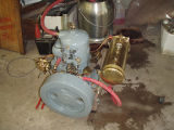 Dick Alcock Acadia Engine Restoration hooking up tubes, Roscoe USA