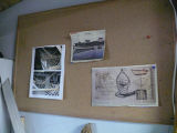 Drawings and articles about boat building in Calvin Toope's Garage