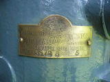 Label of 6 Acadia engine restored by Max Clarke, Paradise