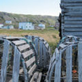 Weathered lobster pots, Keels, NL