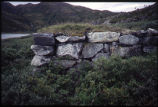 House foundation looking West, Okak, Labrador