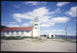 Church and Building from West, Nain, Labrador