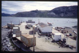 Nain wharf from Church bell tower, South view, Nain, Labrador