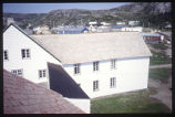 Mission Buildings from bell tower, Moravian Church, Hopedale, Labrador