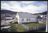Nain from Church bell tower, West view, mission building, Nain, Labrador