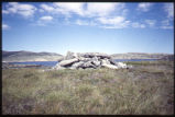 Inuit grave on island near Hebron, Labrador
