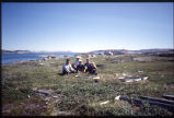 Group picture in graveyard, Hebron, Labrador