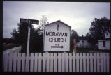 Moravian Church Sign, Haven Street and Hamiltron River Rd., Happy Valley-Goose Bay, Labrador