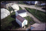 Dead Houses from bell tower, Moravian Church, Hopedale, Labrador