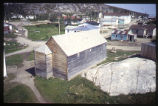 Original Church from bell tower, Moravian Church, Hopedale, Labrador