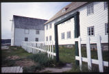 Garden Fence and mission buildings, Hopedale, Labrador